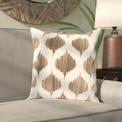 Priyanka 100% Cotton Throw Pillow Cover Size: 18 H x 18 W x 1 D, Color: BrownNeutral