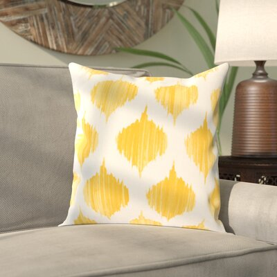 Priyanka 100% Cotton Throw Pillow Cover Size: 18 H x 18 W x 1 D, Color: YellowNeutral