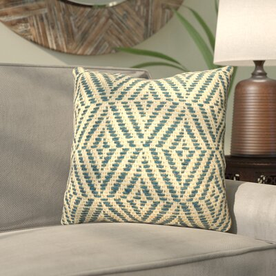 Daniella Cotton Throw Pillow Color: White/Gray
