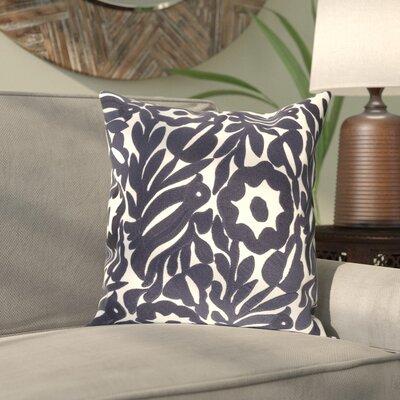 Hara Cotton Pillow Cover Size: 18 H x 18 W x 1 D, Color: Blue