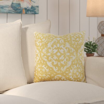 Kendra Throw Pillow Size: 22 H x 22 W x 4 D, Color: Yellow