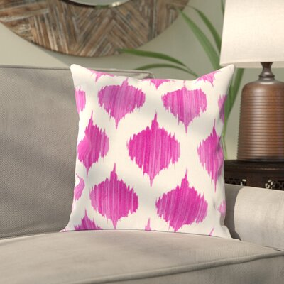 Priyanka 100% Cotton Throw Pillow Cover Size: 22 H x 22 W x 1 D, Color: PinkNeutral