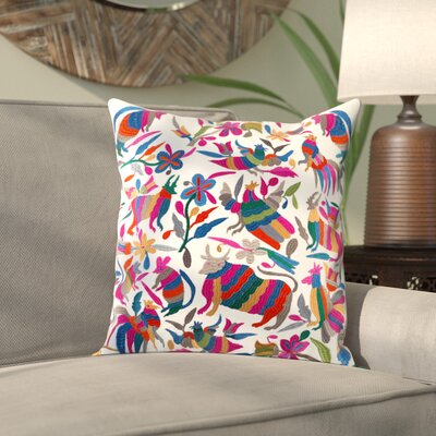 Ranjeeta Cotton Throw Pillow Size: 18 H x 18 W x 4 D