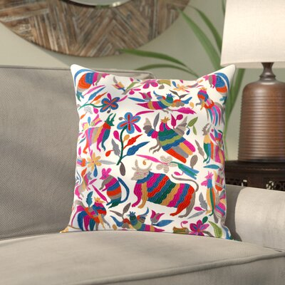 Ranjeeta Cotton Pillow Cover Size: 20 H x 20 W x 1 D