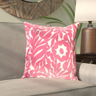 Hara Cotton Pillow Cover Size: 20 H x 20 W x 1 D, Color: Pink