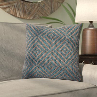 Daniella Cotton Throw Pillow Color: Blue/Gray