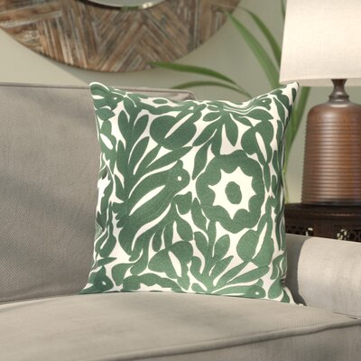 Ginger Cotton Pillow Cover Size: 22 H x 22 W x 1 D, Color: Green