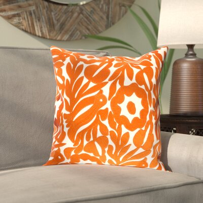 Ginger Cotton Pillow Cover Size: 18 H x 18 W x 1 D, Color: Orange