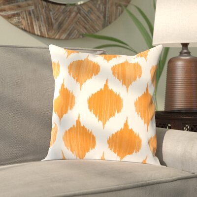 Priyanka 100% Cotton Throw Pillow Cover Size: 18 H x 18 W x 1 D, Color: OrangeNeutral