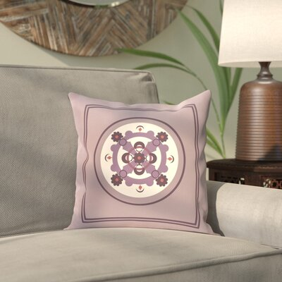Anita Geometric Throw Pillow Size: 18 H x 18 W, Color: Purple / Purple