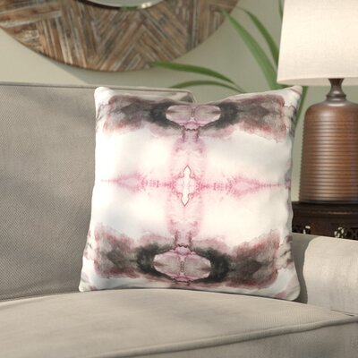 Antram Silk Throw Pillow Size: 20 H x 20 W x 4 D, Color: Gray/Pink