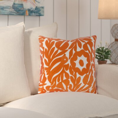 Ginger Cotton Throw Pillow Size: 18 H x 18 W x 4 D, Color: Cream/Burnt Orange