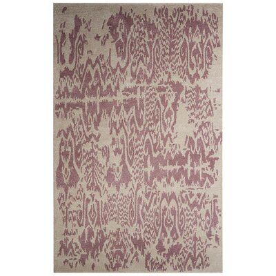 Archer Hand-Tufted Ivory/Purple Area Rug Rug Size: 8 x 10
