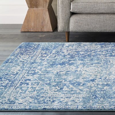 Hillsby Blue/Beige Area Rug Rug Size: 710 x 103