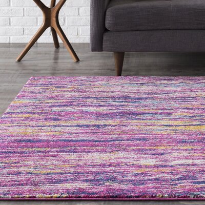 Andover Purple Area Rug Rug Size: Rectangle 93 x 126