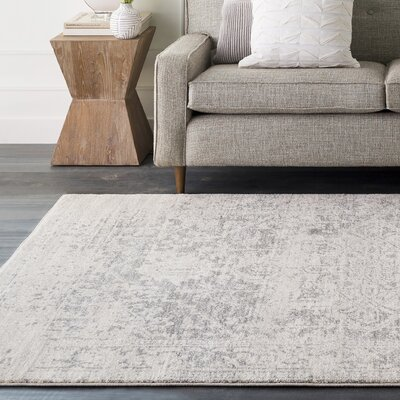 Hillsby Gray/Beige Area Rug Rug Size: Rectangle 93 x 126