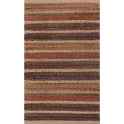 Roy Red/Taupe Solid Rug