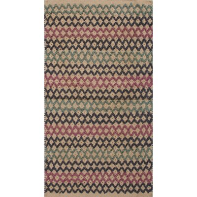 Roy Pink & Blue Solid Area Rug