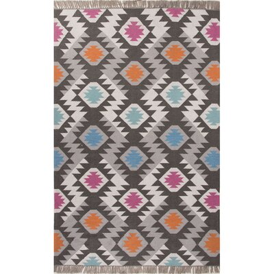 Lucian Dark Gray/Multi Indoor/Outdoor Area Rug Rug Size: 8 x 10