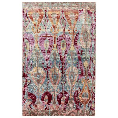 Javon Trellis/Pale Blue Area Rug Rug Size: Rectangle 2' x 3'