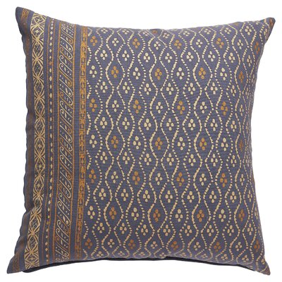 Melvin Cotton Throw Pillow Color: Blue Indigo/Mojave Desert