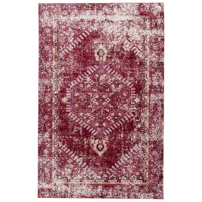Javon Persian Red/Cashmere Rose Area Rug Rug Size: 2 x 3