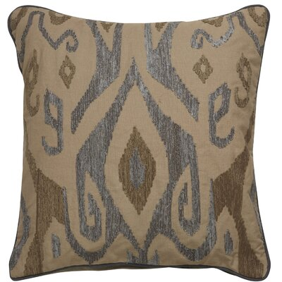 Jadon Tribal Pattern Cotton Throw Pillow Color: Taupe / Grey
