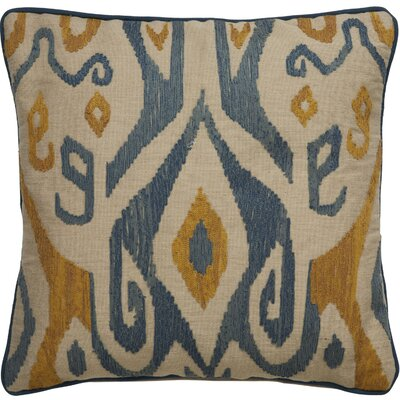 Jadon Tribal Pattern Cotton Throw Pillow Color: Ivory / Blue