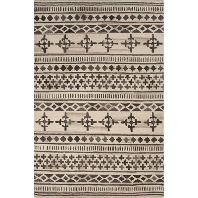 Harley Hand-Tufted Brown/Ivory Area Rug Rug Size: 5 x 8