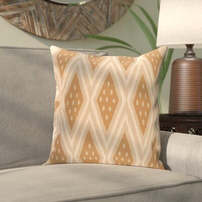 Sabrina Geometric Print Outdoor Pillow Color: Caramel, Size: 18 H x 18 W x 1 D