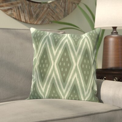 Sabrina Geometric Print Outdoor Pillow Color: Herb Green, Size: 16