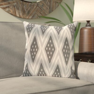 Sabrina Geometric Print Outdoor Pillow Size: 18 H x 18 W x 1 D, Color: Steel Gray
