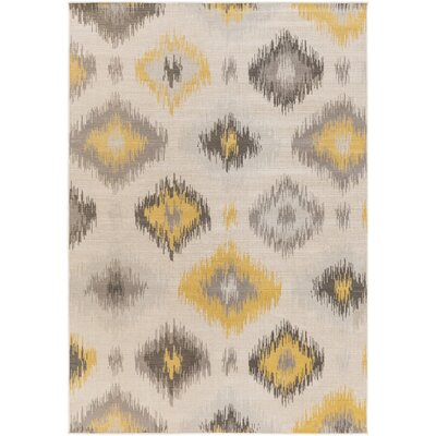 Septfontaines Beige/Gold Area Rug Rug Size: 2'2