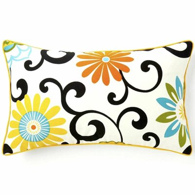 Santio Cotton Lumbar Pillow Color: Multi