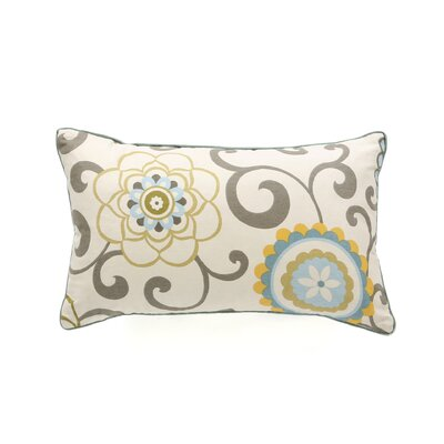 Santio Cotton Lumbar Pillow Color: Sky