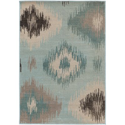 Clementina Teal/Beige Area Rug Rug Size: Rectangle 68 x 98