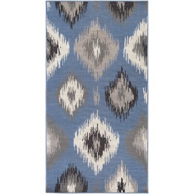 Septfontaines Gray/Blue Area Rug Rug Size: Runner 28 x 5