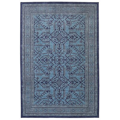 Dayton Blue Area Rug Rug Size: Rectangle 5 x 7