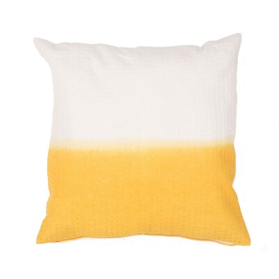 Jermaine Tribal Pattern Cotton Throw Pillow Color: Yellow / Gold