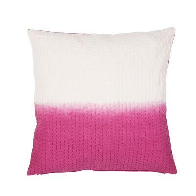 Jermaine Tribal Pattern Cotton Lumbar Pillow Color: Pink