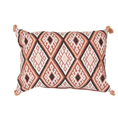 Jermaine Tribal Pattern Lumbar Pillow Color: Orange / Multi