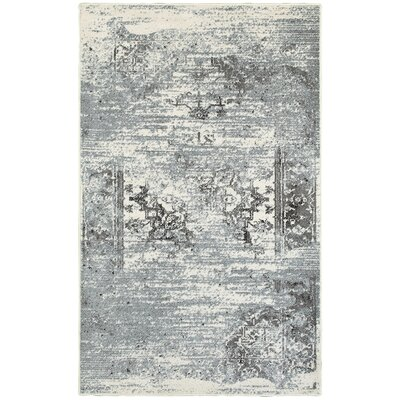 Fayme Silver Area Rug Rug Size: 52 x 72