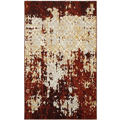 Fayme Red/Cream Area Rug Rug Size: 79 x 95