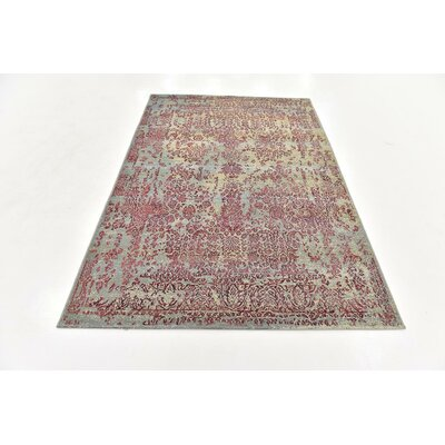 Ile Blue Indoor/Outdoor Area Rug Rug Size: Rectangle 53 x 8