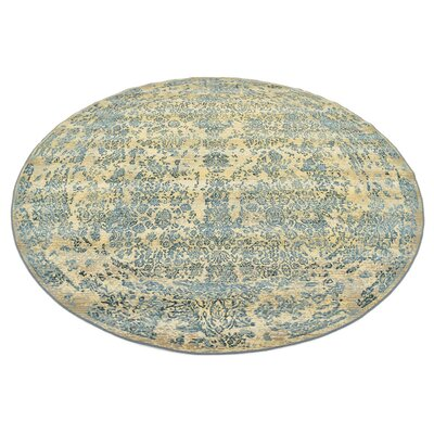 Ile Beige Indoor/Outdoor Area Rug Rug Size: Round 8