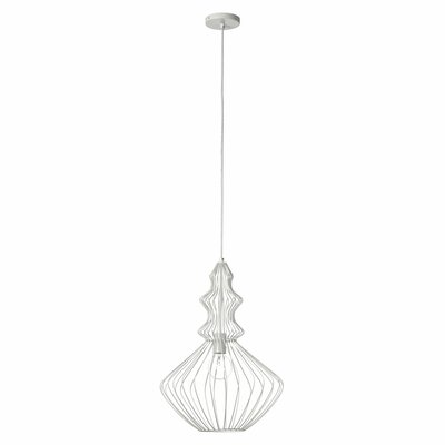 Hafsa 1-Light Foyer Pendant Finish: Matte White