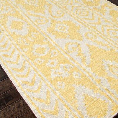 Terrence Yellow Tribal Area Rug Rug Size: Rectangle 9 x 12