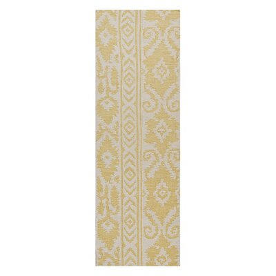 Terrence Yellow Tribal Area Rug Rug Size: Runner 26 x 8