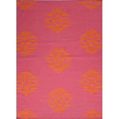 Dominik Hand-Woven Pink Area Rug Rug Size: Rectangle 36 x 56
