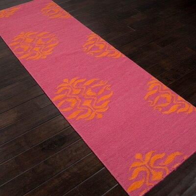 Dominik Hand-Woven Pink Area Rug Rug Size: Runner 26 x 8